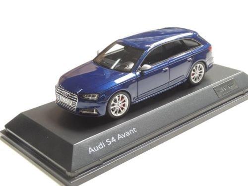 Audi Original S4 Avant Modellauto 1:43 Navarrablau Blau Limitierte Auflage (Audi S4 Spielzeug Auto)