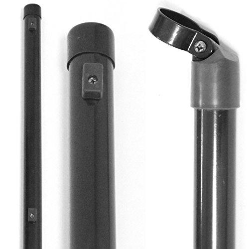 *Zaunpfosten oder Streben Anthrazit 34 mm – Größe wählbar // 34 mm Gartenzaun Pfosten Streben Zaunpfahl Maschendraht (Zaunstrebe 2,0 m)*