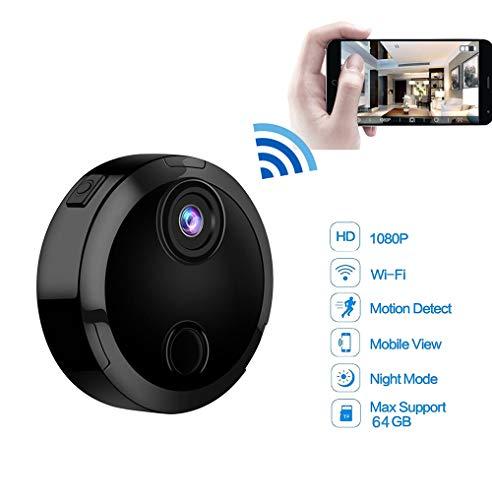 SHENGY Mini WiFi IP-Kamera HD 1080P Infrarot-Nachtsichtmikro-Netzwerk-Camcorder 150 ° Weitwinkelfernüberwachung Alarmaufforderung Kamera (Sony Camcorder Infrarot)