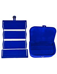 Afrose Combo 1 Pc Blue Earring Folder And 1 Pc Blue Ear Ring Box Vanity Case