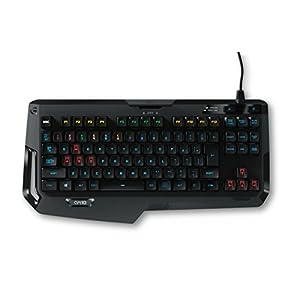 Logitech G410 Atlas Spectrum Ultra-leichte mechanische Gaming-Tastatur ohne Nummernblock (AZERTY, französisches Tastaturlayout) schwarz