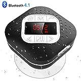 Shower Speaker Bluetooth 4.1 Waterproof with FM, AGPTEK Portable Wireless Shower Radio LED