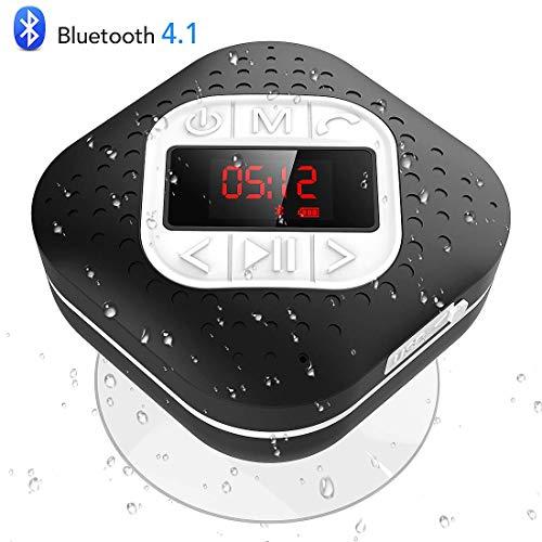 Altavoz Bluetooth Ducha Impermeable con Ventosa Extraíble, AGPTEK Radio...