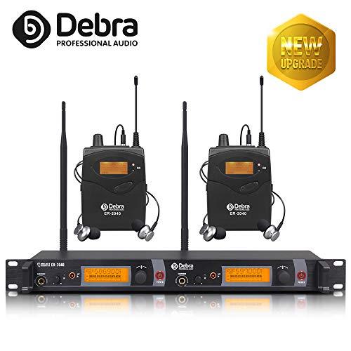 Beste Klangqualität! Professionelles UHF-In-Ear-Monitor-System Dual Channel Monitoring ER-2040 Typ für Bühnenaufzeichnung Studio-Überwachung (zweimal verwendet) (mit 2 Empfänger)