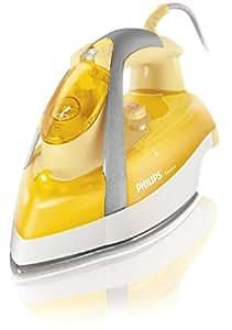 Philips GC3335/02 Elegance Dampfbügeleisen (SteamGlide-Bügelsohle, 120g Dampfstoß), gelb