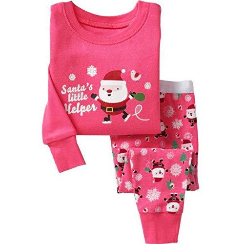 Kinder Baby Jungen Mädchen, Stillshine - Weihnachten Kinder Weihnachten Pyjamas Set Weihnachtsmann Homewear Langarm Cartoon Baumwolle Nachtwäsche (100CM, Stil 2)
