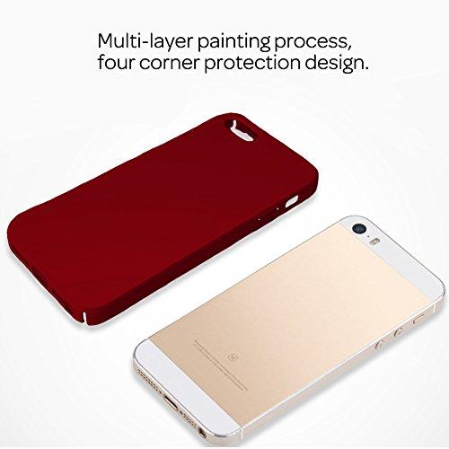 HX-412XFAY Schlanke Glatt und geschmeidig, iPhone 5/5sHülle, iPhone 5S/5/SE Hülle Passgenaues Premium Hart-PC Schale /Handyhülle/ Schutzhülle,Anti-Kratzer,anti-Fingerabdruck, Stoßfest für iPhone5/iPho Farbe-3