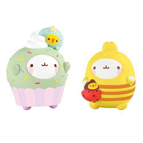Molang Kostüm Biene 1 Figur Bourdon, 1 Cupcake-Outfit, L66073, Mehrfarbig