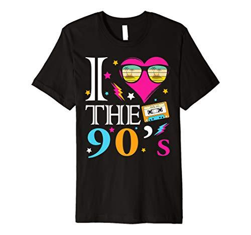 Jahre Kostüm Party - I love The 90er's T-Shirt Retro 90er