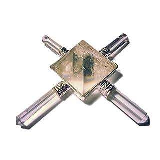 Energy generator with 4 rhinestone arms and pyramid reiki esoteric.