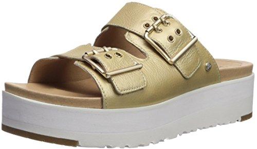 95f568f5c89a UGG Zapatos Cammie Sandalias de Cuero Oro Mujer 39 Gold
