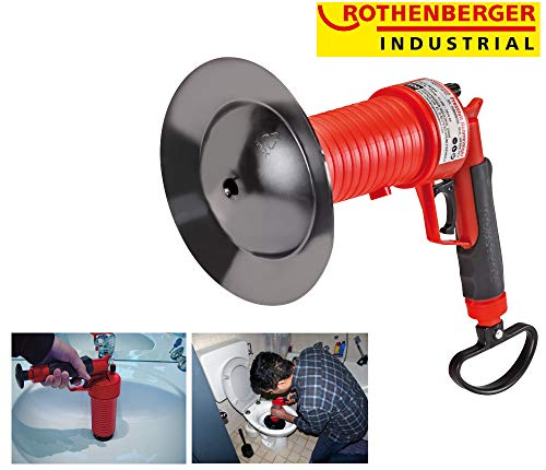 ROTHENBERGER Industrial Pressluft Rohrreiniger (4 bar) zur Reinigung verstopfter Abflüsse im Bad oder WC