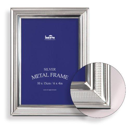 Set 5 Stk. Fotorahmen Silber Metall BALMORAL-(2462-5)-13x18-Gesamtgröße 16,2x21,2x1 cm- Foto Galerie Bilder-Rahmen Stilrahmen Portraitrahmen