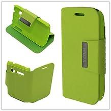Misemiya ® | Fundas Orange Yomi / Alcatel One Touch Pop C1 Verde Libro Cuero Agenda Soporte