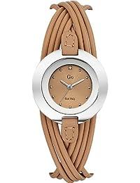 go-girl nur 698122Damen Quarz Analog watch-beige Leder strap-beige Zifferblatt