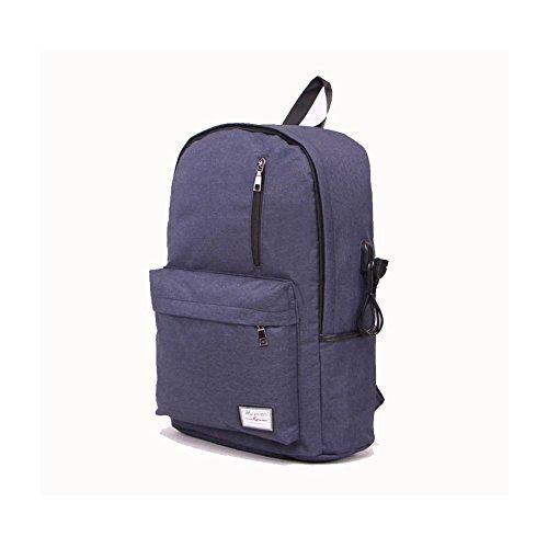 16 Hafen-faser (Backpack Laptop-Rucksack 17 Zoll mit USBAufladen Hafen , navy blue)