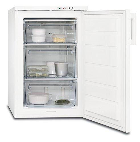 AEG ATB71121AW Gefrierschrank freistehend / 90 l Gefrierfach mit extra großer Schublade / sparsamer Unterbau-Tiefkühlschrank mit Temperaturalarm / A++ (144 kWh/Jahr) / Höhe: 85 cm / weiß