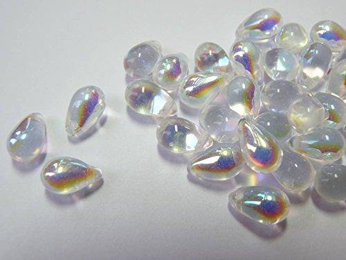 40(PCS) X 9mm Tschechische Glas Tropfenform Tropfen Perlen–Kristall - Gläser Kristall Tschechische