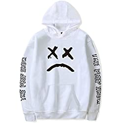 ShallGood Unisexe Mujer Spring Moda Lil Peep Cry Hoodie BTS Bangtan Boys Hip Hop Rapper Sudaderas con Capucha Manga Larga Suéter Capa Hoodies Sweat Polaire Blanco 3X-Large
