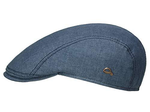 53% Leinen (Göttmann Jackson Schirmmütze mit UV-Schutz aus Leinen - Jeans (50) - 53 cm)