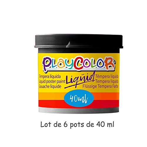 PlayColor Gouache Líquido Pintura 19911 Negro