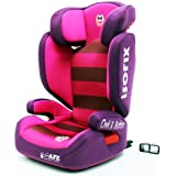 i-Safe Carseat Kid/Toddler Fix ISOfix Group 2-3 - Owl & Button From 15-36kg iSafe