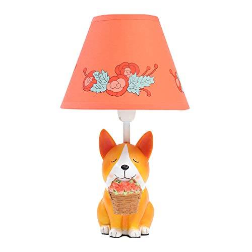(Hotel Schreibtischlampe Kreative Niedlichen Cartoon Tier Tischlampe Schlafzimmer Nachttischlampe Rose Einstelllampe E27 Schreibtisch Licht (Farbe : Puppy-Dimming switch))