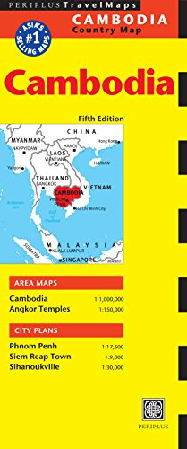 Cambodia Travel Map (Periplus Country Maps) (Periplus Travel Maps)