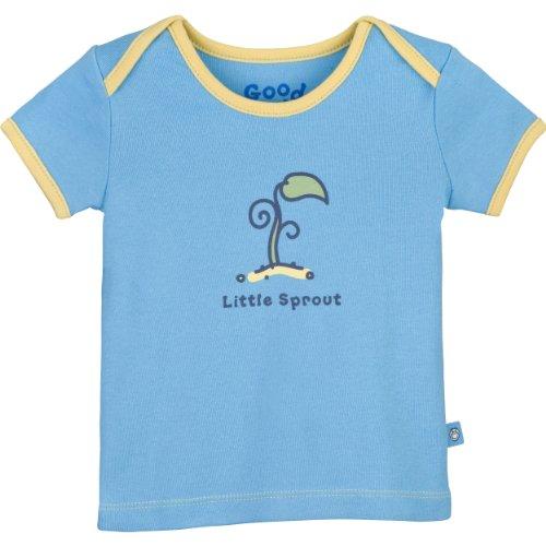 Life is Good Baby Little Sprout Ringer Tee, Mädchen, Beachhouse Blue (Mädchen Ringer T-shirt Kinder)