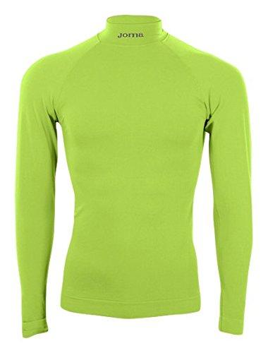 Joma Brama Classic - Camiseta térmica de Manga Larga para niños de 12-14 años, Color Verde flúor
