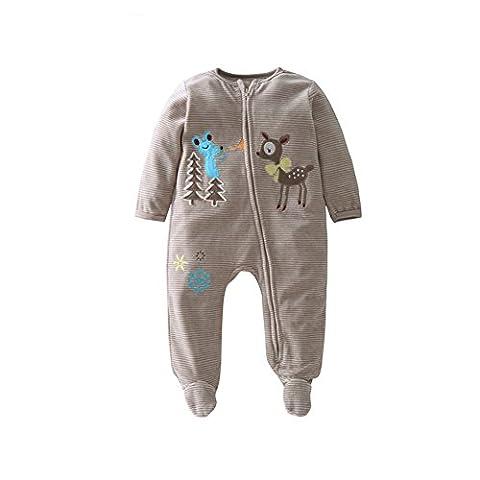 ZAMME Baby-Mädchen-Baumwollbodysuit-Spielanzug