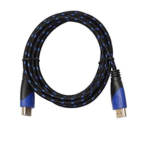 ndigkeits-HDMI-Kabel, 0,5 - 5 m, Stecker auf Stecker, V1.4, 1080p, AV 3D, für PS3, Xbox HDTV 1.8m blue&black rot ()