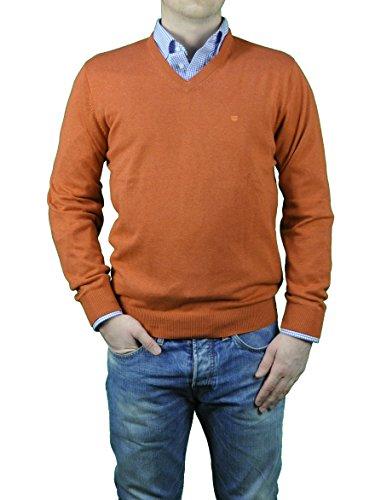 Redmond - Herren Pullover mit V-Ausschnitt in verschiedenen Farben (Art.Nr.: 600) Orange(27)