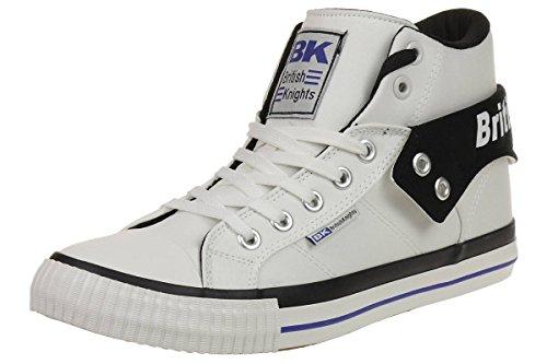British Knights Roco Uomini Alte Sneakers WHITE/BLACK/ROYAL BLUE