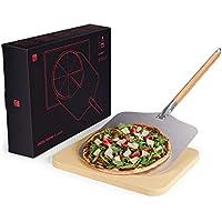 Blumtal Pizza de Piedra y Pala para Pizza–Pizza Pala & Piedra, para Gas Barbacoa y Parrilla, Original–Horno para Pizza de Material