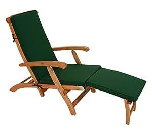gartenmoebel einkauf polsterauflage denver f r deckchair oder liegestuhl 176cm dukelgr n. Black Bedroom Furniture Sets. Home Design Ideas