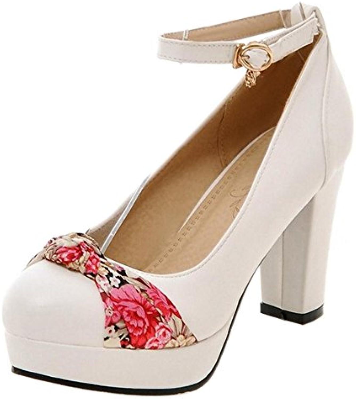 1920047fb6d2 TAOFFEN Women s Ball Block Heel Court Shoes B0796P2MZJ B0796P2MZJ  B0796P2MZJ Parent 985727
