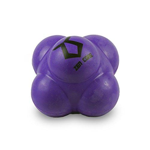 Zen Core Reactionball Original - Reaktionsball hart in der Farbe Violett mit den Maßen 7 x 7 cm zum Trainieren der Reaktionsschnelligkeit, Hand-Augen-Koordination, Geschwindigkeit, Beweglichkeit (Hart Trainieren)