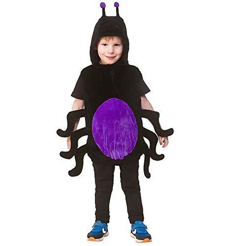 Kinder Unisex Spinnen Tier Wappenrock Kostüm (Einheitsgröße 3-5 Jahre) (Kinder Spider Kostüm Ideen)