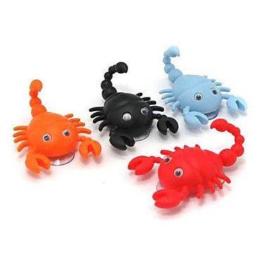 MZMZ generico accessori bella carino a forma di scorpione il piolo con due ventose (colore casuali)