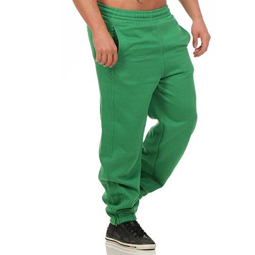 Finchman Herren Jogginghose Baggysweat Pant Hose Freizeit Loose Fit Sweat Baggy Grün