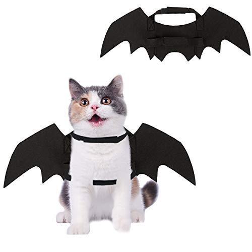 Homimp halloween pet ali di pipistrello costume per gatti e cuccioli