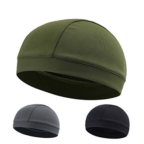 Imagen de winomo skull cap quick dry sport sudadera gorro ciclismo caps cinta sudor banda verde  alternativa
