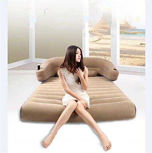 Ruirui Cuscino deluxe resto generato Airbed con capote in tessuto floccato per Comfort, cuscino incorporato e pompa elettrica