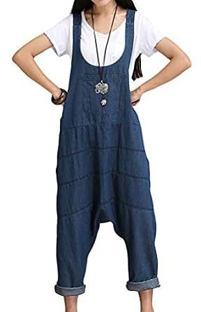 Vogstyle Damen Hosenträger Spielanzug Harem Jumpsuit Hosen M Bleu Art 1