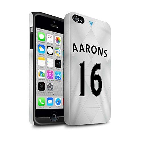 Officiel Newcastle United FC Coque / Matte Robuste Antichoc Etui pour Apple iPhone 4/4S / Pack 29pcs Design / NUFC Maillot Extérieur 15/16 Collection Aarons