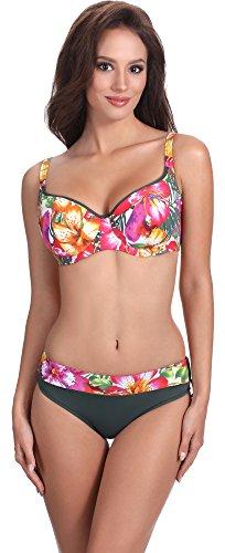 Feba Modellante Corpo Bikini Set per Donna Elena (Modello-416, EU Cup 85E/Bottom 42 (IT 4E/48))