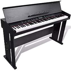 Oakome vidaXL Piano Numérique Noir Piano Électrique avec 88 Touches Piano Classique Digitale