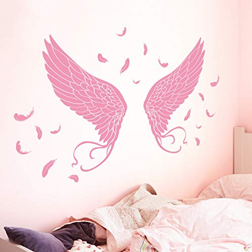 YzybzEngel Flügel Wandaufkleber Vinyl Diy Selbstklebende Federn Tapeten Für Kinderzimmer Kindergarten Dekoration