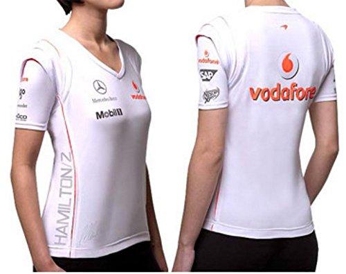 mclaren-t-shirt-femme-formule-1-lewis-hamilton-xs-blanc-blanc